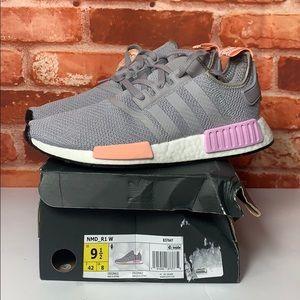 Women's Adidas NMD R1 B37647 Size 9.5 NEW Gray